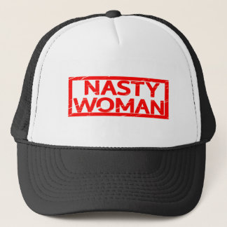 Nasty Woman Stamp Trucker Hat