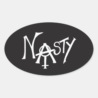 Nasty Woman Sticker - White Text