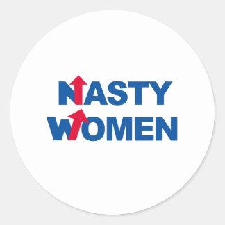 Nasty Women 2016 -- Presidential Election 2016 -.p Classic Round Sticker