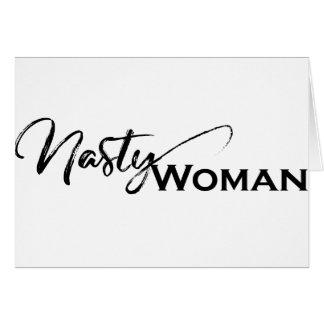 Nasty women elegant items card