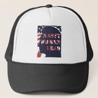 Nasty Women Lead Political Democratic Feminism Trucker Hat