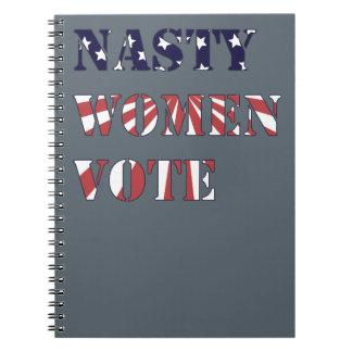 Nasty Women Vote Spiral Notebook