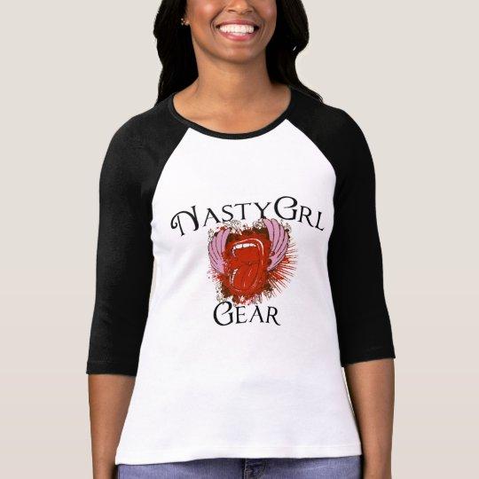 NastyGrl Gear Women's 3/4 Sleeve T-shirt