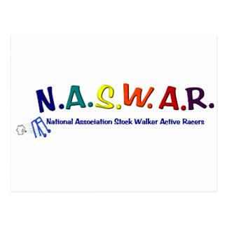 NASWAR - Senior Walker Racing Postcard