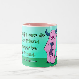 Natalie and friend, 15 oz mug