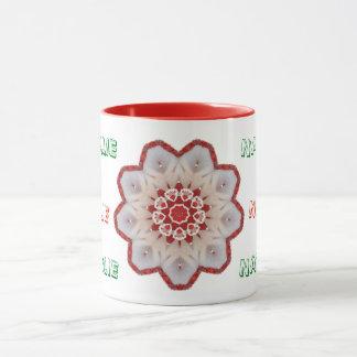 NATALIE ~ Personalised Candy Cane Fractal ~ Mug