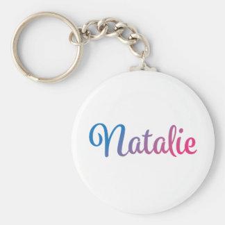 Natalie Stylish Cursive Keychain
