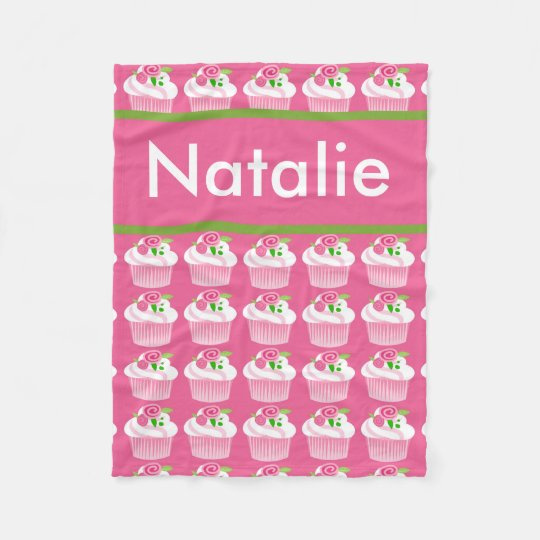Natalie's Personalized Cupcake Blanket