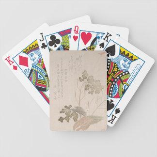 Natane Flower - Japanese Origin - Edo Period Bicycle Playing Cards