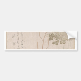 Natane Flower - Japanese Origin - Edo Period Bumper Sticker