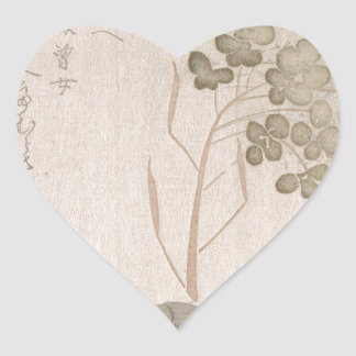 Natane Flower - Japanese Origin - Edo Period Heart Sticker