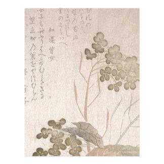 Natane Flower - Japanese Origin - Edo Period Letterhead