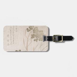 Natane Flower - Japanese Origin - Edo Period Luggage Tag