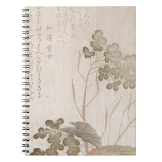 Natane Flower - Japanese Origin - Edo Period Notebook