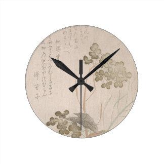 Natane Flower - Japanese Origin - Edo Period Round Clock
