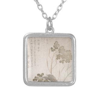 Natane Flower - Japanese Origin - Edo Period Silver Plated Necklace