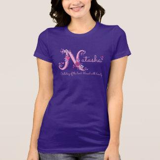 Natasha girls name meaning monogram shirt