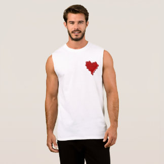 Natasha. Red heart wax seal with name Natasha Sleeveless Shirt