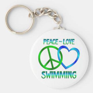NATATION d amour de paix Porte-clés