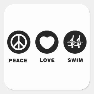 Natation synchronisée stickers carrés