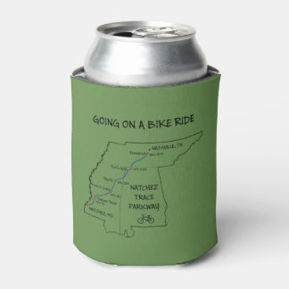 Natchez Trace Route Map Can Cooler