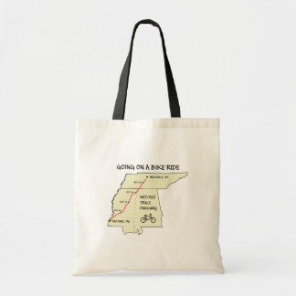 Natchez Trace Route Map Tote Bag