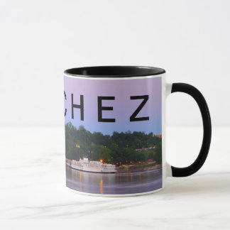 NATCHEZ ~ Under The Hill Riverboat Sunset Mug