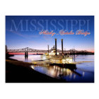 Natchez–Vidalia Bridge and Riverboat Casino Postcard