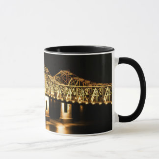 Natchez-Vidalia Bridge - Golden glow Mug