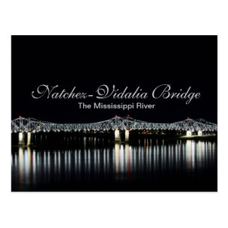 Natchez-Vidalia Bridge - Mississippi River Postcard