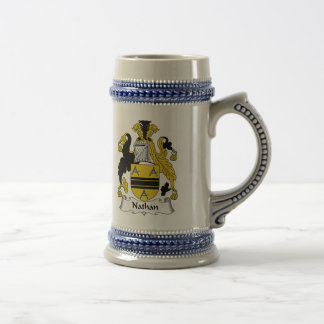 Nathan Family Crest Beer Stein