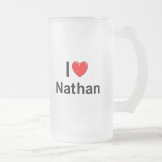 Nathan Frosted Glass Beer Mug
