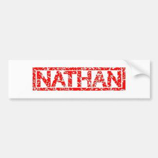 Nathan Stamp Bumper Sticker