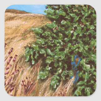 Nathanael and the Fig Tree Square Sticker