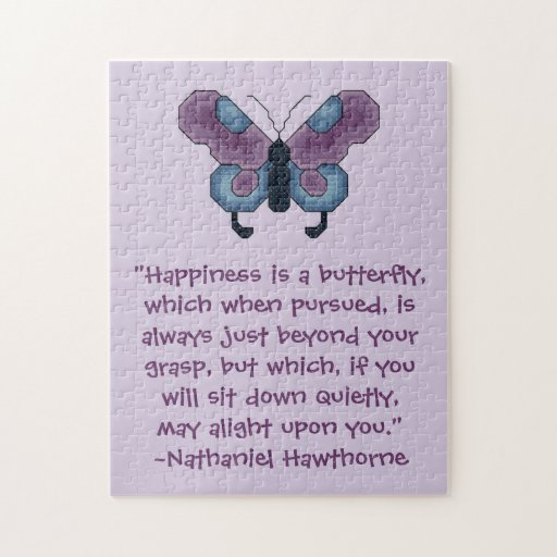 Nathaniel Hawthorne Butterfly Happiness Puzzles