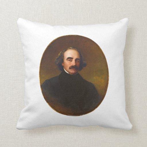 Nathaniel Hawthorne by Emanuel Gottlieb Leutze Throw Pillows