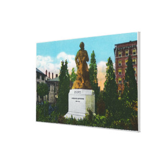 Nathaniel Hawthorne Statue View Canvas Print