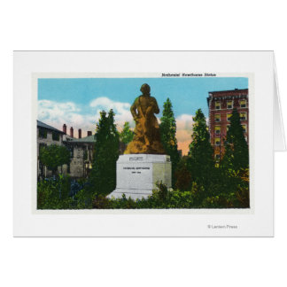 Nathaniel Hawthorne Statue View Card