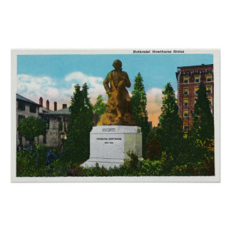 Nathaniel Hawthorne Statue View Poster