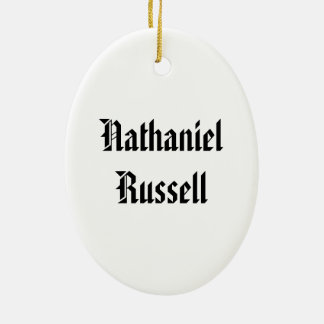 Nathaniel Russell Ceramic Ornament