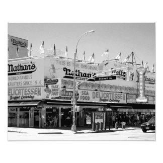 Nathan's Famous Hot Dogs Photographic Print