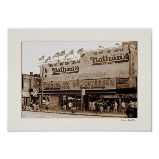 Nathan's Famous Hot Dogs Poster