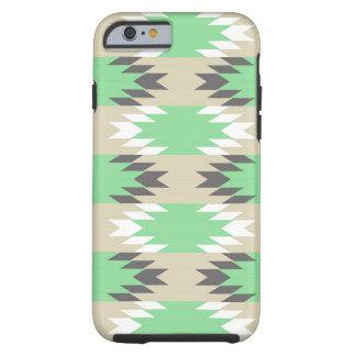 Natif américain gris vert tribal aztèque des Andes Coque Tough iPhone 6