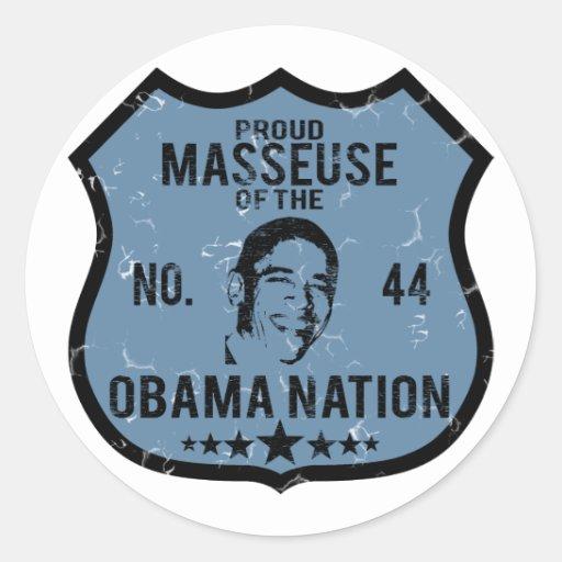 Nation d'Obama de masseuse Autocollants