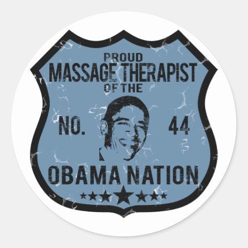 Nation d'Obama de thérapeute de massage Autocollants Ronds