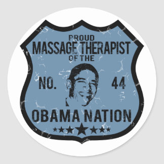 Nation d'Obama de thérapeute de massage Sticker Rond