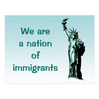 Nation of Immigrants Statue of Liberty Postcard
