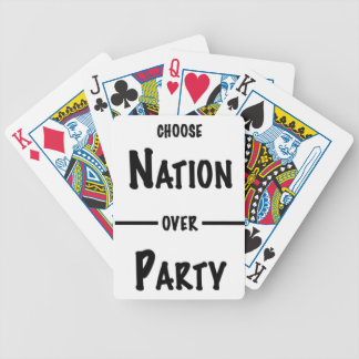 Nation over Party gift collection Bicycle Playing Cards