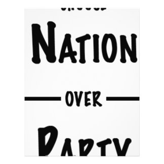 Nation over Party gift collection Letterhead