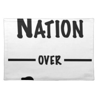 Nation over Party gift collection Placemat